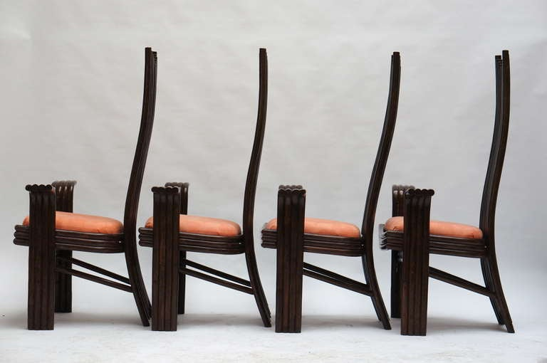 Late 20th Century Set of Four Bentwood High Chairs For Sale