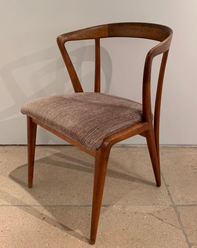 Set of Four Bertha Schaefer Dining Chairs For Sale 4