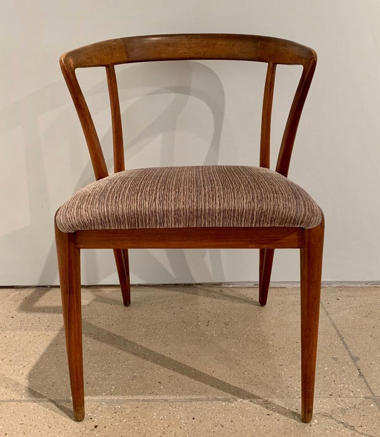 Mid-Century Modern Set of Four Bertha Schaefer Dining Chairs For Sale