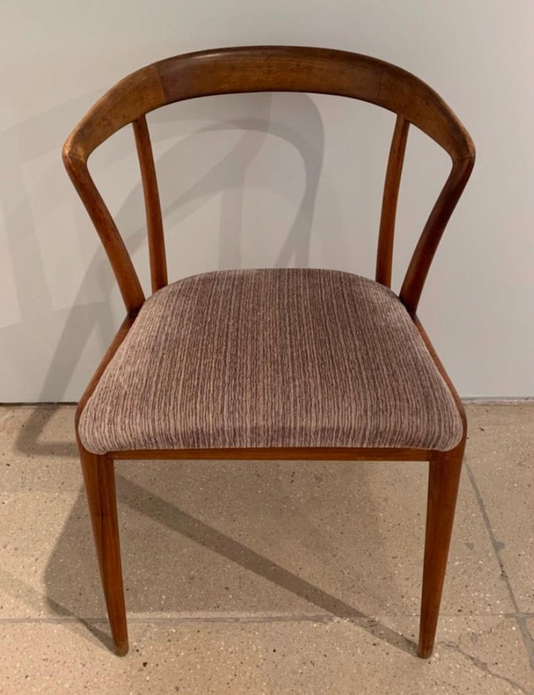 Italian Set of Four Bertha Schaefer Dining Chairs For Sale