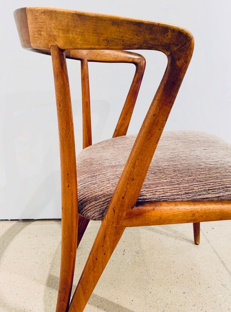 Cotton Set of Four Bertha Schaefer Dining Chairs For Sale