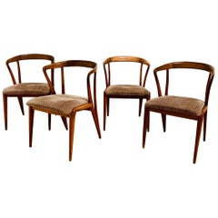 Set of Four Bertha Schaefer Dining Chairs