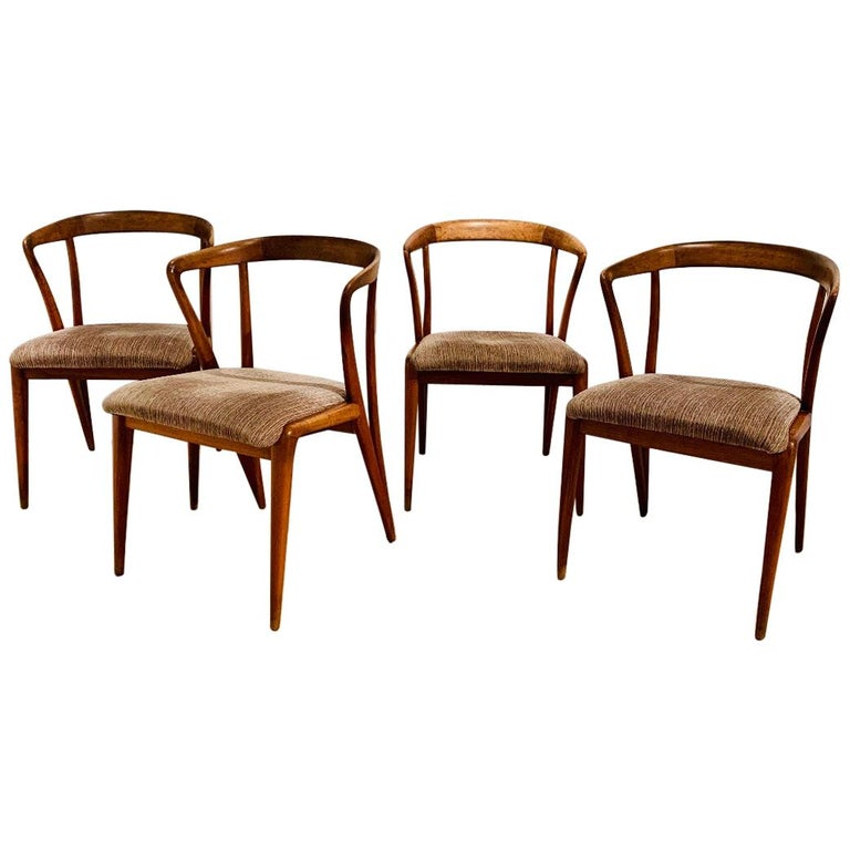 Set of Four Bertha Schaefer Dining Chairs For Sale