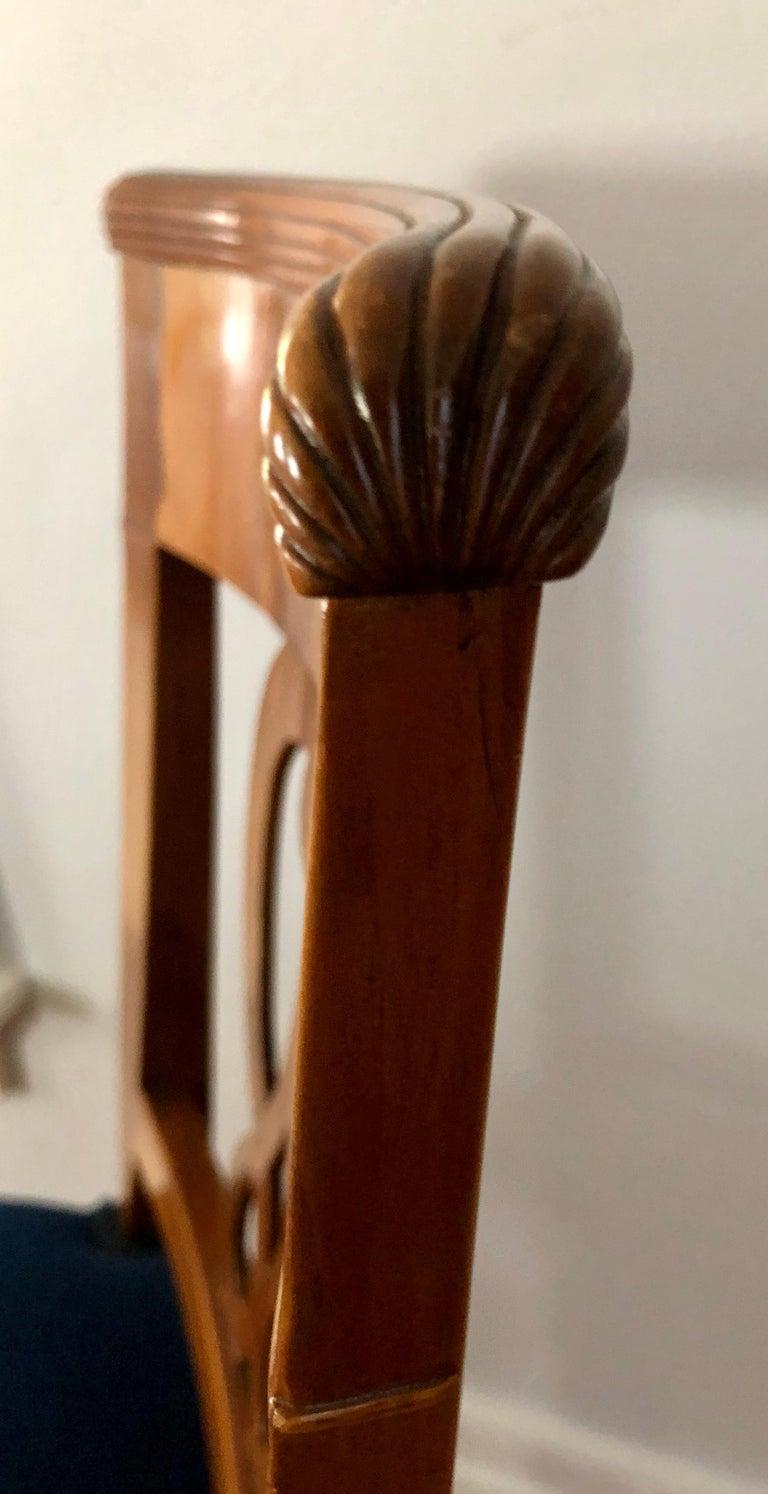 Swiss Set of Four Biedermeier Chairs, Switzerland, circa 1820-1830 For Sale