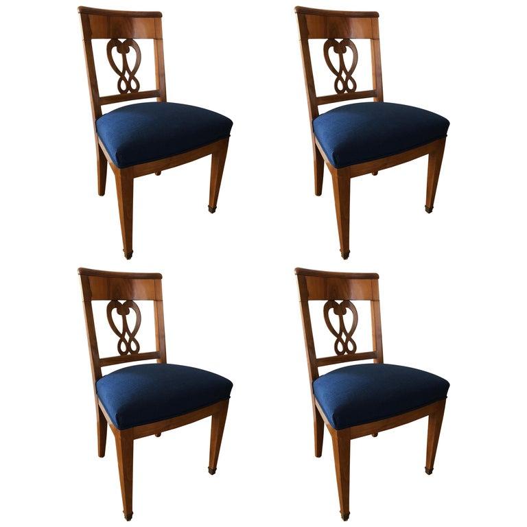 Set of Four Biedermeier Chairs, Switzerland, circa 1820-1830 For Sale