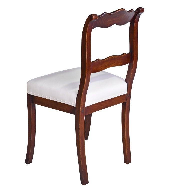 Set of Four Biedermeier Dining Chairs in Mahogany, Lower Saxony, Germany In Good Condition For Sale In Miami, FL