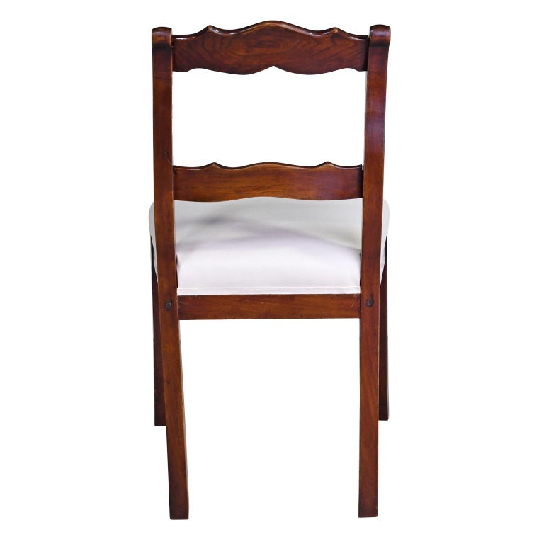 Early 19th Century Set of Four Biedermeier Dining Chairs in Mahogany, Lower Saxony, Germany For Sale