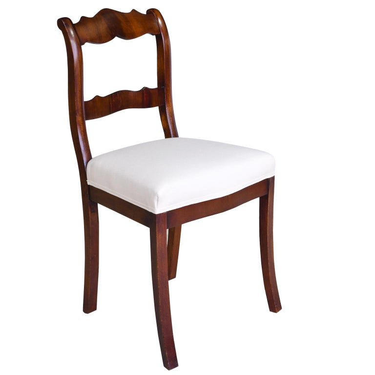 Set of Four Biedermeier Dining Chairs in Mahogany, Lower Saxony, Germany For Sale 2