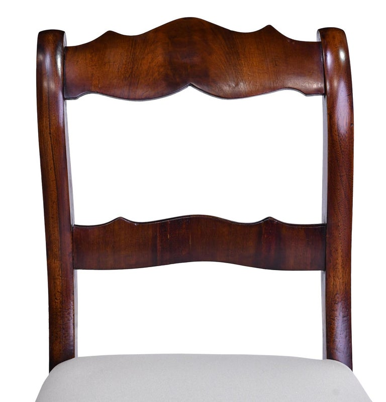 Set of Four Biedermeier Dining Chairs in Mahogany, Lower Saxony, Germany For Sale 3