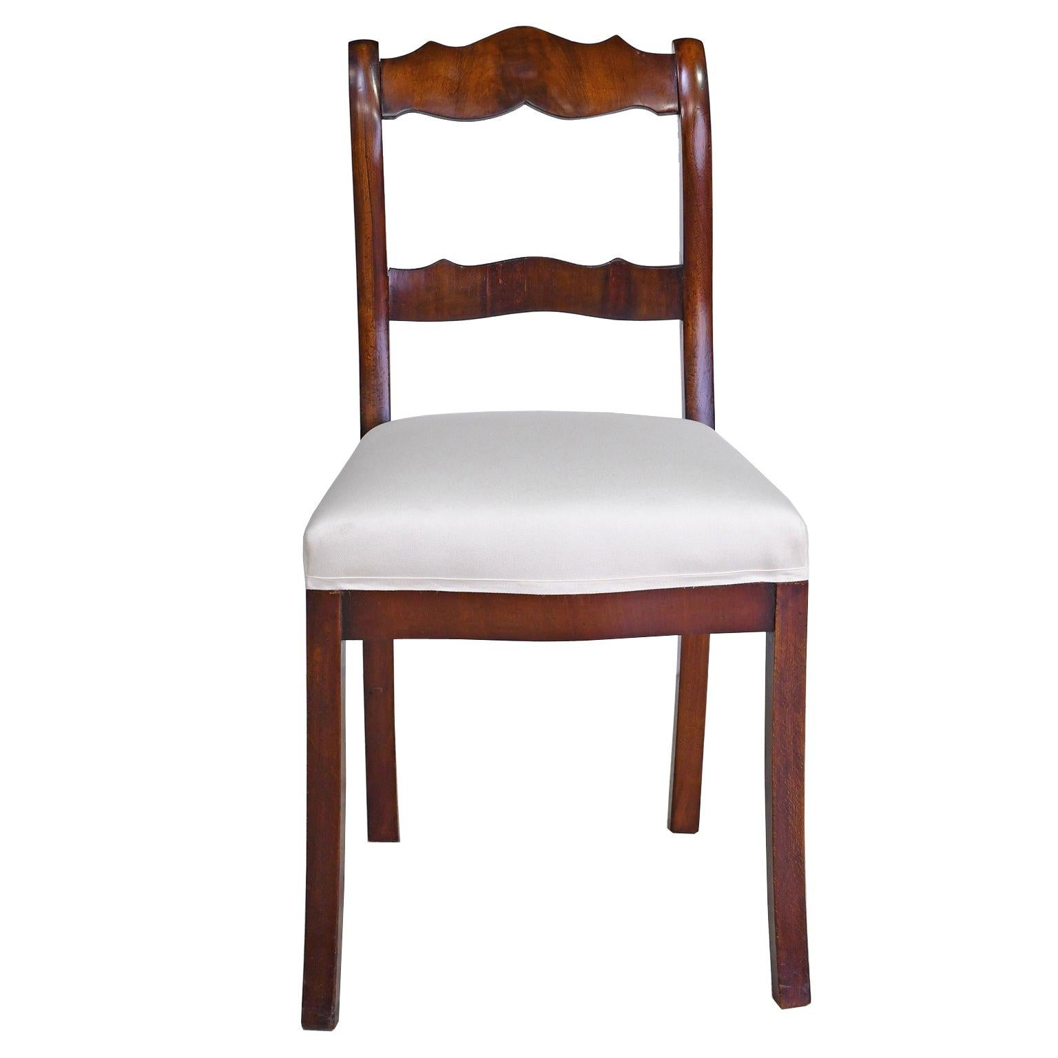 Set of Four Biedermeier Dining Chairs in Mahogany, Lower Saxony, Germany