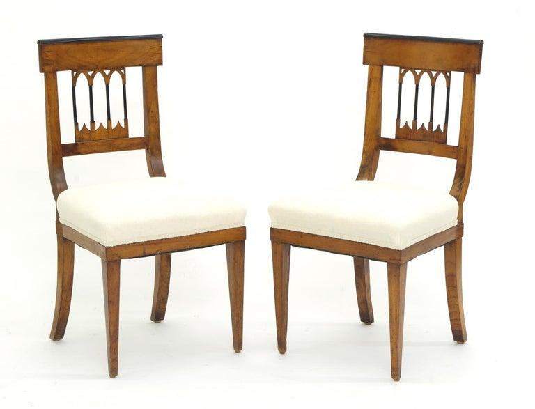German Set of Four Biedermeier Side Chairs, circa 1810-1820 For Sale