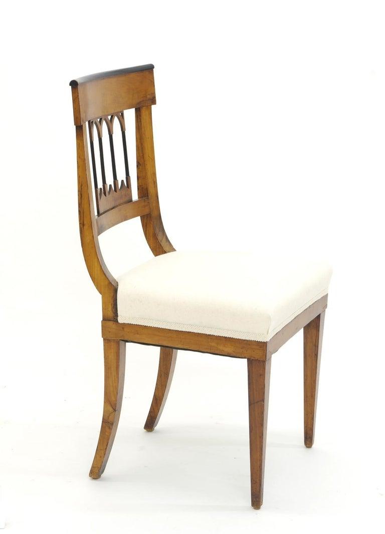 19th Century Set of Four Biedermeier Side Chairs, circa 1810-1820 For Sale