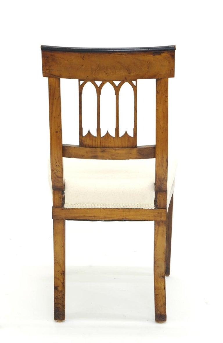 Wood Set of Four Biedermeier Side Chairs, circa 1810-1820 For Sale