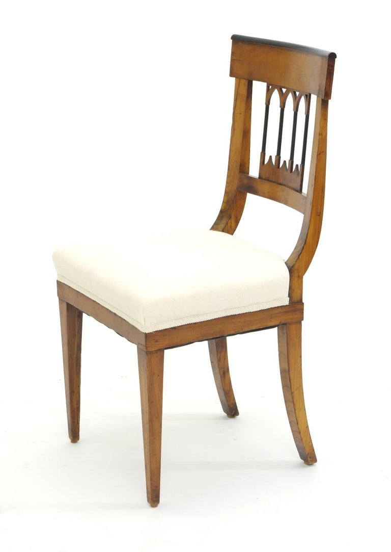 Set of Four Biedermeier Side Chairs, circa 1810-1820 For Sale 1