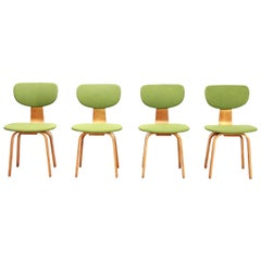 Set of Four Birch Cees Braakman for Pastoe, Model SB03 Dining Chairs, 1950s