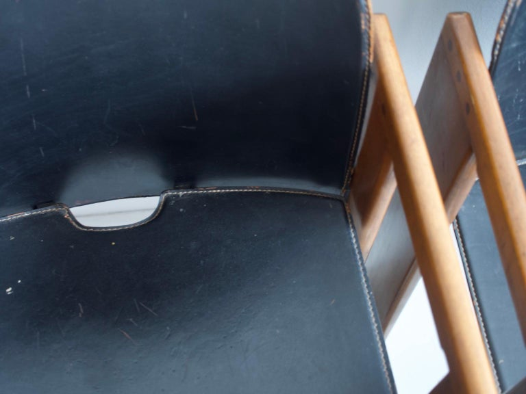 Set of Four Black Dialogo Chairs by Afra & Tobia Scarpa For Sale 2