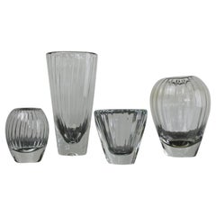 Set of Four Blown Art Glass Vases by Iittala, Finland, 1959