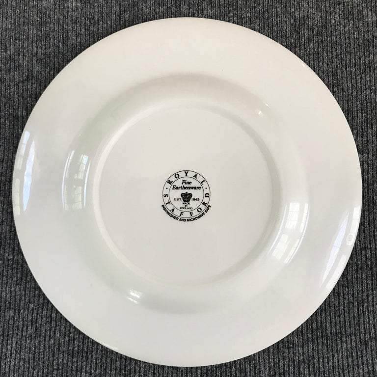 Set of Four Blue and White Bird Plates For Sale 2