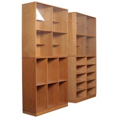 Set of Four Bookcases in Oak by Mogens Koch, Danish Design, Midcentury, 1950s