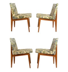 Set of Four Bracket Back Dining Chairs by Dunbar