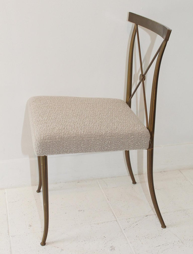 Mid-20th Century Set of Four Brass Chairs by William