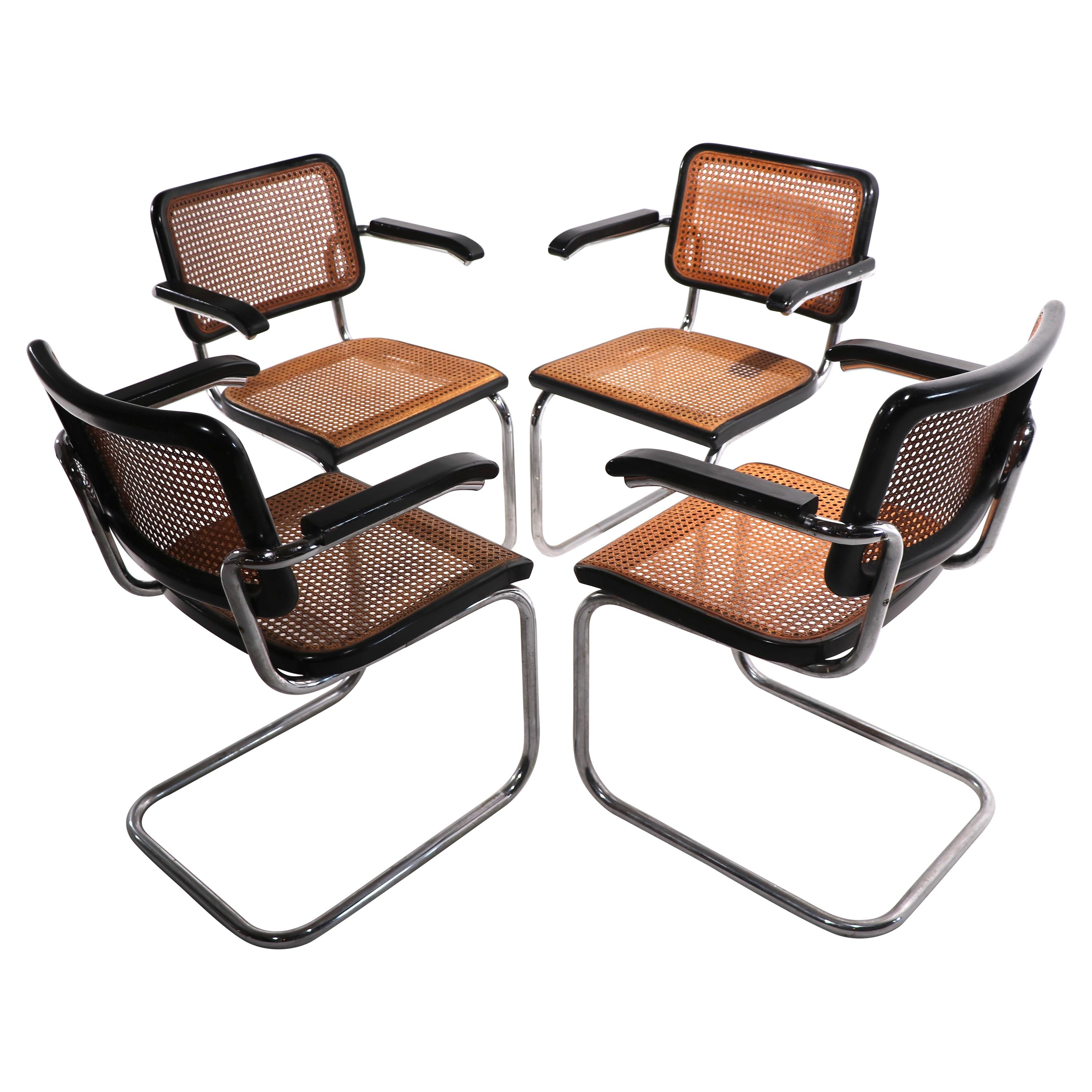 Set of Four Breuer Chairs by Stendig
