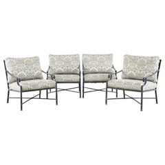 Set of Four Brown Jordan Venetian Patio Lounge Chairs
