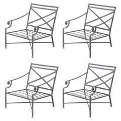 Set of Four Brown Jordan Venetian Patio Lounge Chairs