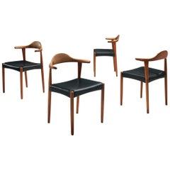 "Set of Four ""Bull Horn"" Chairs by Harry Østergaard"