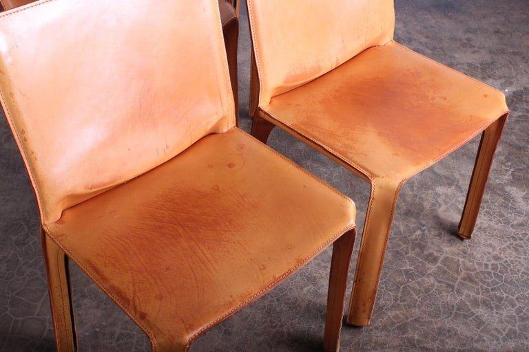 Set of Four Cab Chairs by Mario Bellini For Sale 6
