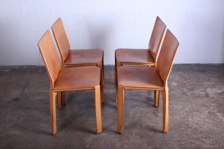 Set of Four Cab Chairs by Mario Bellini For Sale 7