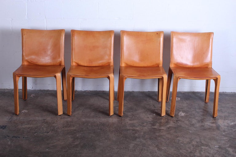 Late 20th Century Set of Four Cab Chairs by Mario Bellini For Sale