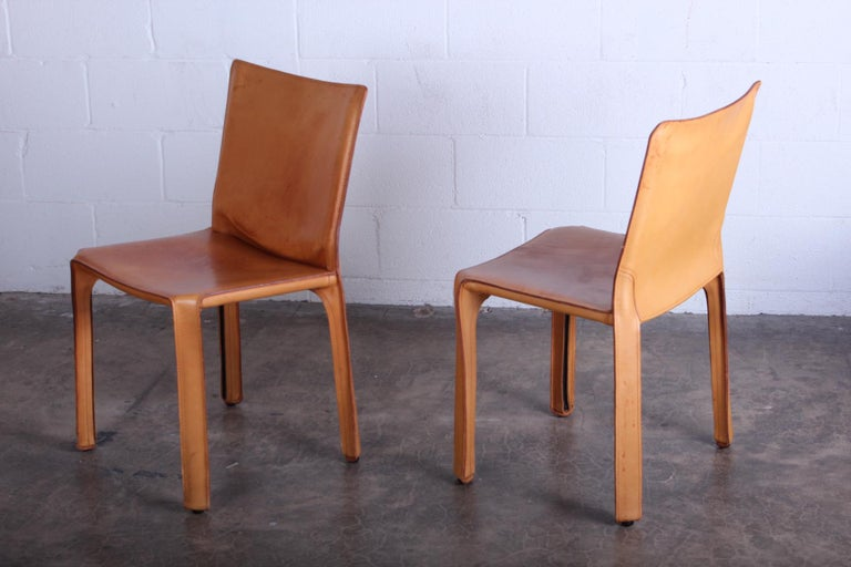 Set of Four Cab Chairs by Mario Bellini For Sale 1