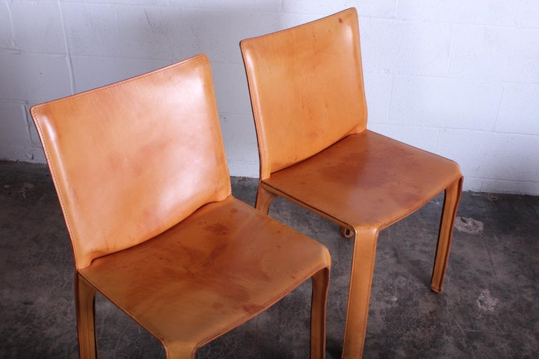 Set of Four Cab Chairs by Mario Bellini For Sale 3