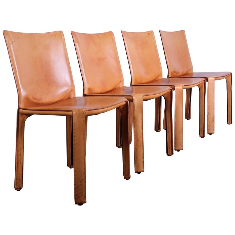 Set of Four Cab Chairs by Mario Bellini For Sale
