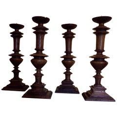 Set of Four Candlesticks, circa 1880