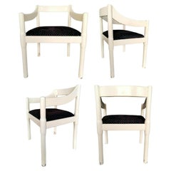 """Set of Four """"Carimate"""" Chairs Designed by Vico Magistretti for Cassina, 1960s"""