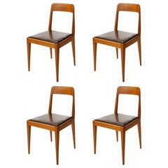 Set of Four Carl Auböck Chairs A7, Austria, 1950s