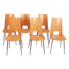 Set of Four Carlo Ratti Chairs, Italy, 1950s