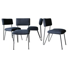 Set of Four Case Study Iron Chairs by Inco of California, circa 1955