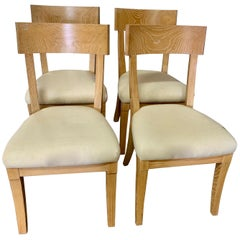 Set of Four Cerused Oak Dining Chairs