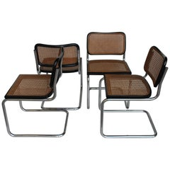 "Original GAVINA Set of Four ""Cesca"" Mid-Century Chairs by M. Breuer , Italy 1965"