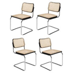 Set of Four Cesca  Chairs by M. Breuer, 1970