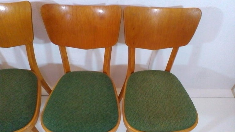 Mid-Century Modern Set of Four Chairs, 1960s For Sale