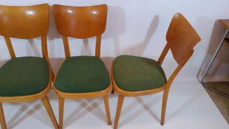 Czech Set of Four Chairs, 1960s For Sale