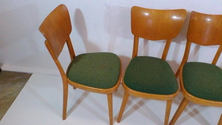 Set of Four Chairs, 1960s In Good Condition For Sale In Praha, CZ