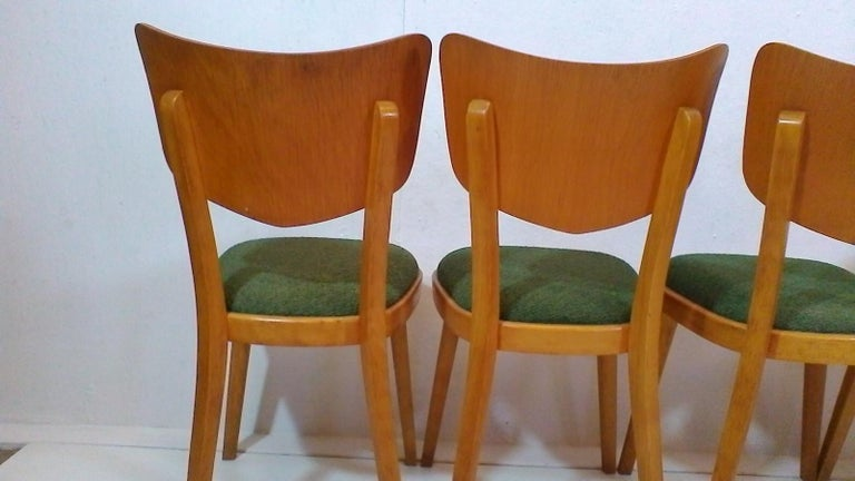 Fabric Set of Four Chairs, 1960s For Sale