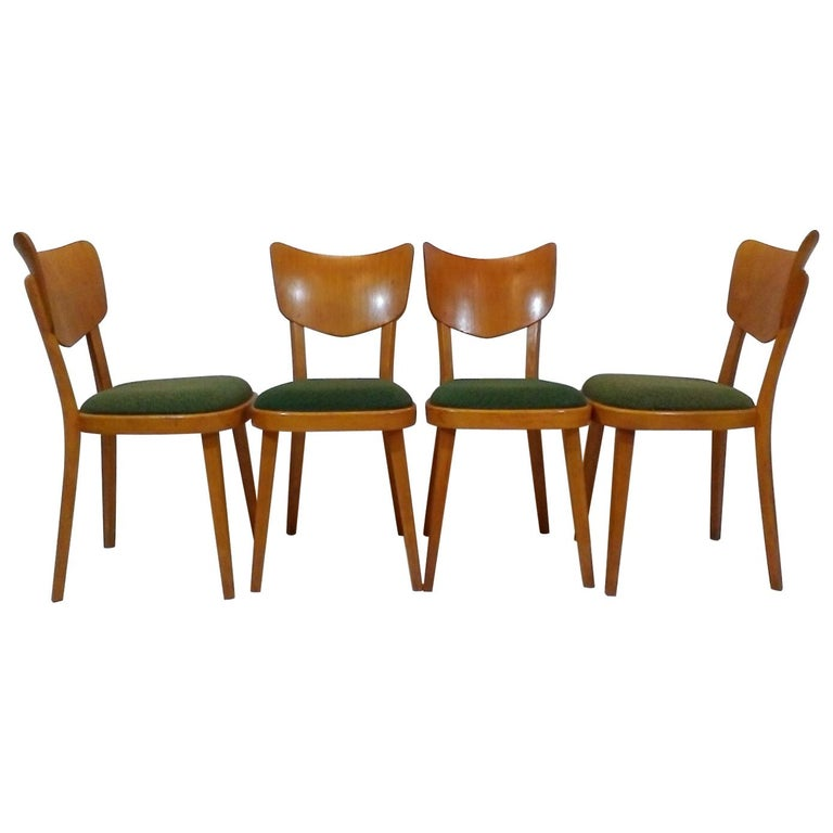 Set of Four Chairs, 1960s For Sale
