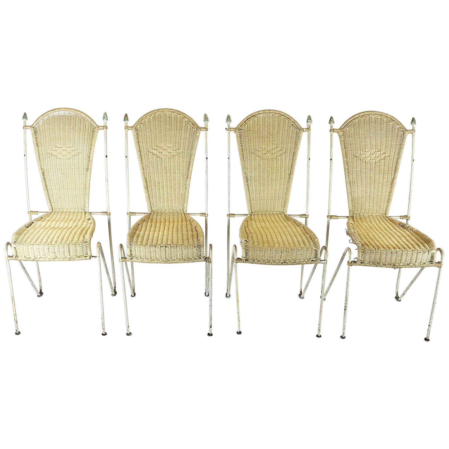Set of Four Chairs Attributed to Arturo Pani