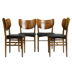 Set of Four Chairs by Eva & Niels Koppel Model 255 Slagelse Mobelvaerk